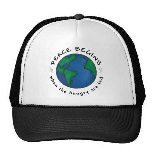 La paz comienza gorras de camionero