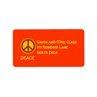 La paz con Sun personalizó la etiqueta de Etiquetas De Dirección