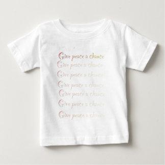 La paz, da a paz una oportunidad playera de bebé