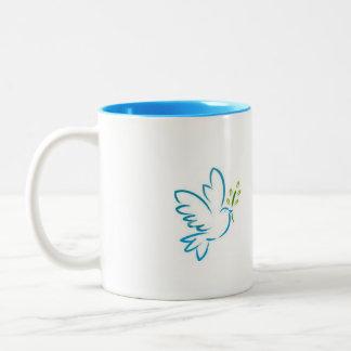 La paz de Jesús... Two-Tone Coffee Mug