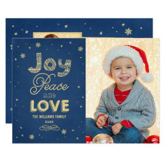 """La paz de la alegría y ama la tarjeta del collage invitación 5"""" x 7"""""""
