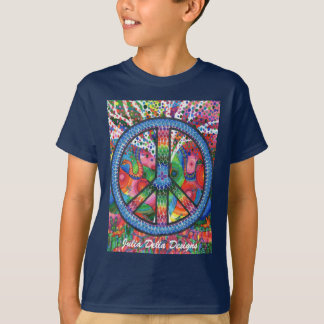 La paz de la vida embroma la camiseta