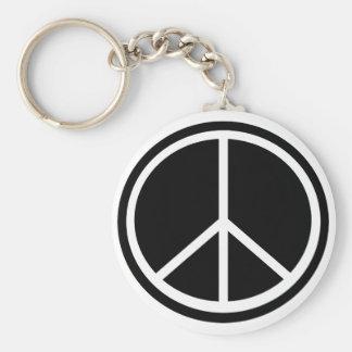 La paz de los hippies de Woodstock y ama llavero d