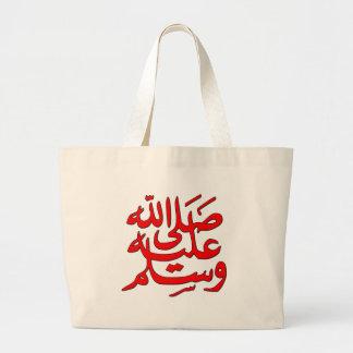 La paz de Mohamed esté sobre él Bolsa Tela Grande