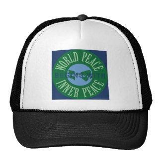 La paz de mundo comienza con el gorra interno de l