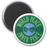 La paz de mundo comienza con el imán interno de la