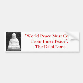 La paz de mundo debe venir de paz interna etiqueta de parachoque