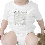 La paz de mundo es daltónico trajes de bebé
