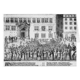 La paz de Nuremberg, el 25 de septiembre de 1649 Tarjeta De Felicitación