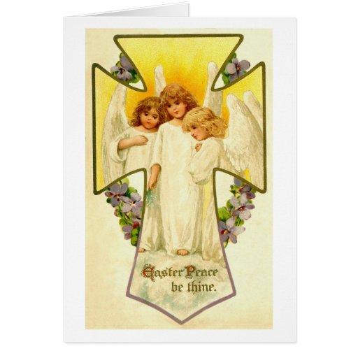 La paz de Pascua sea thine Tarjeta De Felicitación