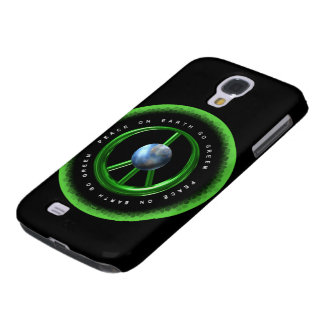 La paz de Valxart en la tierra va verde en 100+ pr Funda Para Galaxy S4