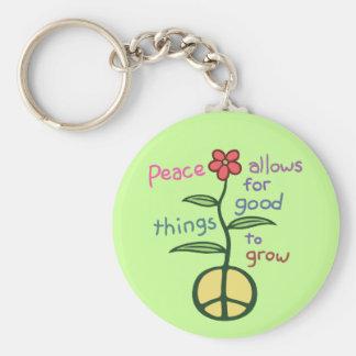La paz deja para crecer llavero redondo tipo pin