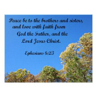 La paz del 6:23 de Ephesians esté a los hermanos y Membretes Personalizados