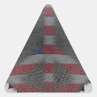 La paz del girasol hacia fuera firma calcomania triangulo personalizadas