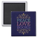 La paz elegante, el amor, reserva el imán (oscuro)