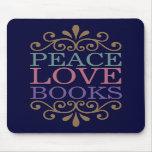 La paz elegante, el amor, reserva Mousepad (oscuro Tapetes De Ratón