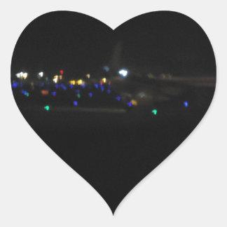 La Paz en la noche Heart Sticker