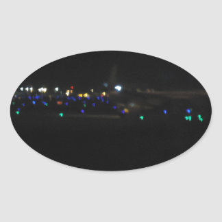 La Paz en la noche Oval Sticker