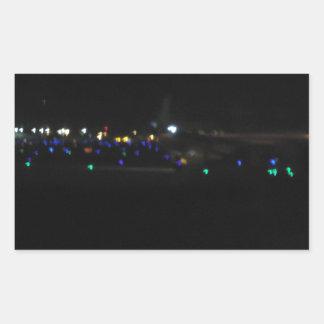 La Paz en la noche Rectangular Sticker