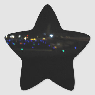 La Paz en la noche Star Sticker