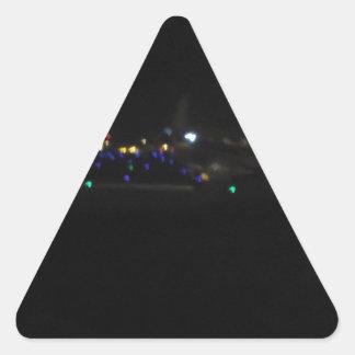 La Paz en la noche Triangle Sticker