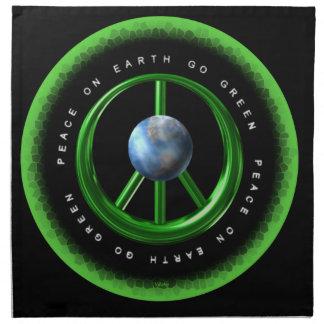 La paz en la tierra va verde por Valxart.com Servilletas De Papel