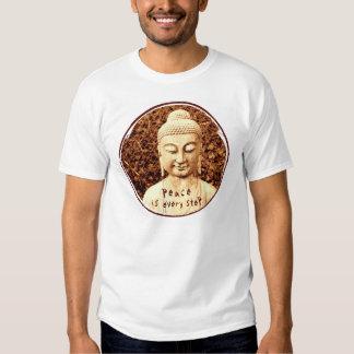la paz es cada camiseta de Buda del paso Polera