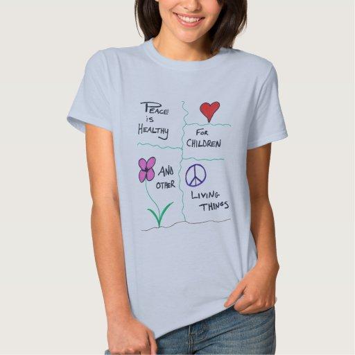 La paz es camiseta sana playeras