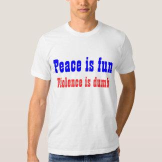 La paz es diversión poleras