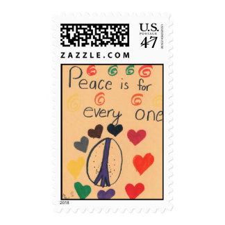 La paz es para cada uno sello