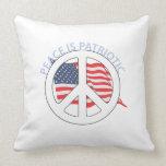 La paz es patriótica almohadas