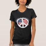 La paz es patriótica camisetas