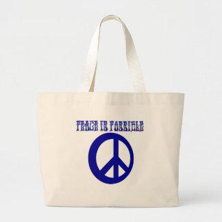 La paz ES posible (azul) Bolsa De Mano