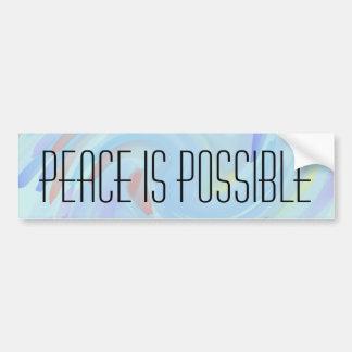 La paz es posible pegatina para auto