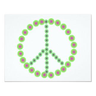 """La paz es todo invitación 4.25"""" x 5.5"""""""