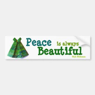 La paz está siempre. pegatina para el parachoques etiqueta de parachoque