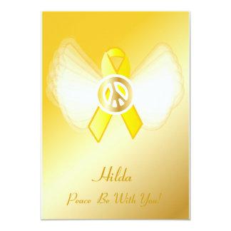 ¡La paz esté con usted! Cáncer de hígado POW/MIA S Invitación 12,7 X 17,8 Cm