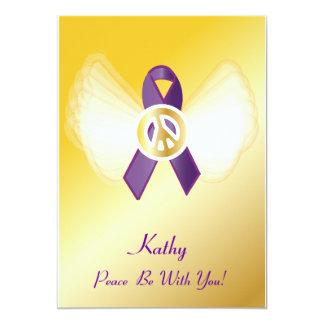 ¡La paz esté con usted! General Cancer Invitación 12,7 X 17,8 Cm
