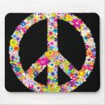 La paz florece Mousepad Alfombrillas De Raton