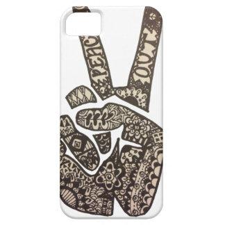 La paz hacia fuera diseña iPhone 5 Case-Mate cárcasas