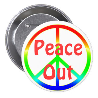 La paz maravillosa hacia fuera firma el Pin del bo