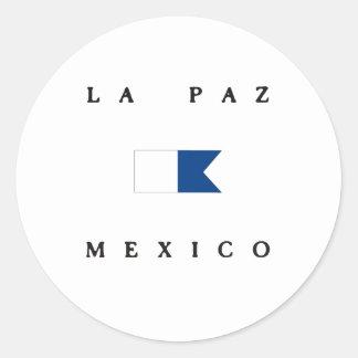 La Paz Mexico Alpha Dive Mexico Classic Round Sticker