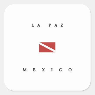 La Paz Mexico Scuba Dive Flag Square Sticker