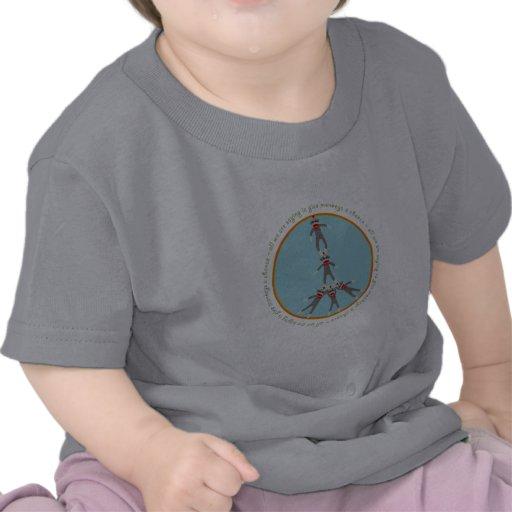 La paz Monkeys la camiseta del bebé