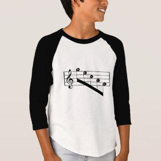 La paz musical del Clef agudo del personal observa Playera