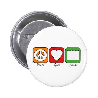 La paz retra, amor, reserva el botón (de la oscuri pin