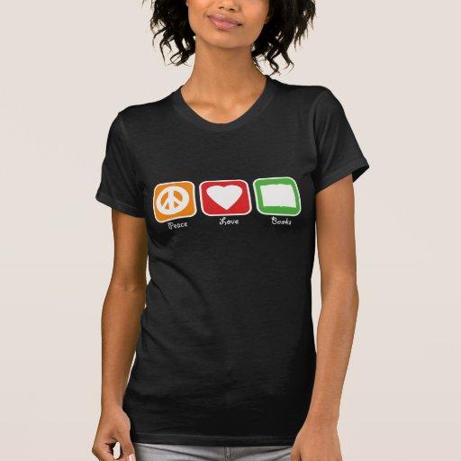 La paz retra, el amor, reserva a las mujeres camiseta