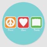 La paz retra, el amor, reserva a los pegatinas pegatinas redondas