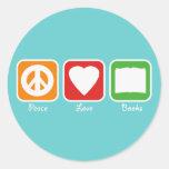 La paz retra, el amor, reserva a los pegatinas (os