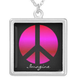 "La paz ""se imagina"" el collar, colgante de la plat"
